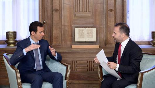 Bashar to the Swedish Expressen Newspaper-3